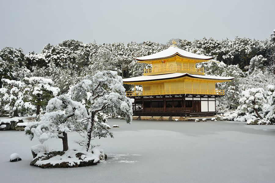 Things to do in Kyoto: Visit the Kinkakuji Temple.