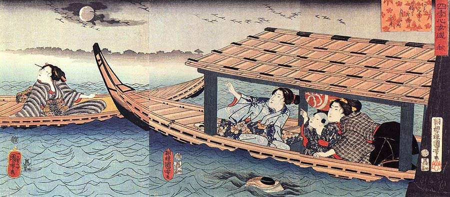 An Utagawa Kuniyoshi woodblock print entitled Autumn