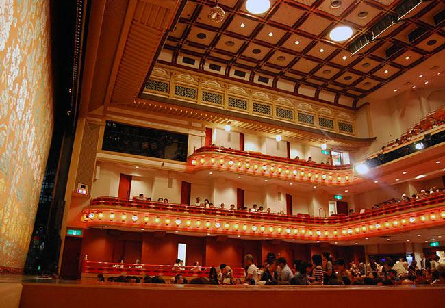 The Minami-za Kabuki Theater.