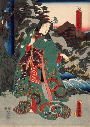 An Utagawa Kunisada woodblock print entitled Green