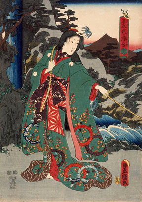An Utagawa Kunisada woodblock print entitled Green