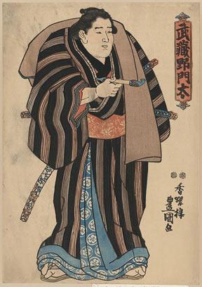Sumo-e print of Sumo wrestler Musashino Monta
