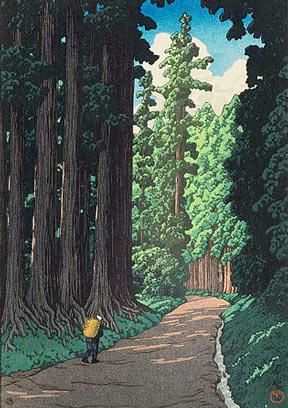 A Kawase Hasui woodblock print entitled Nikko kaido