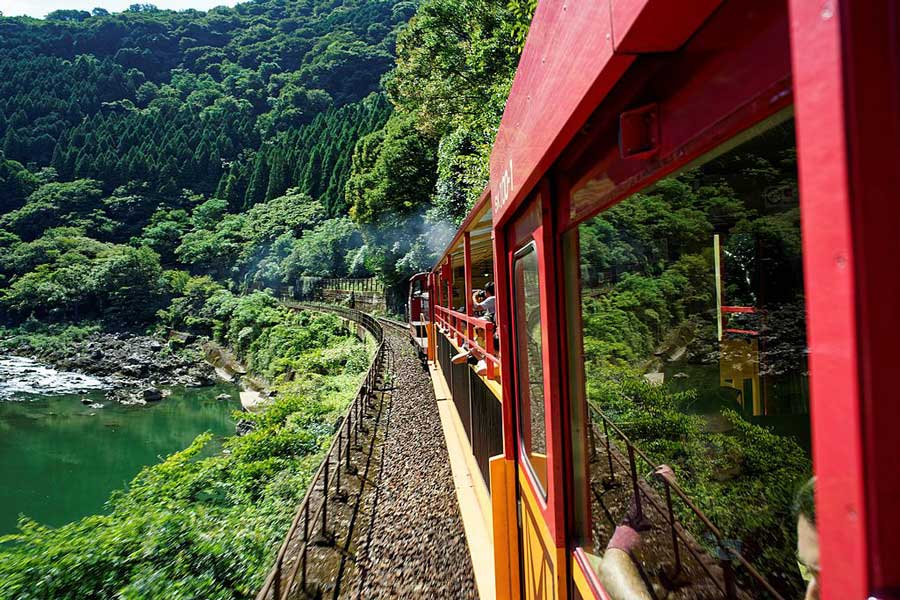 Sagano Romantic train.