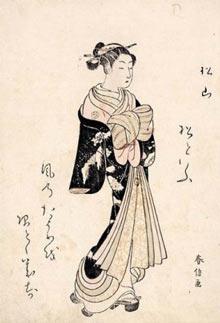 The Courtesan Matsuyama, From the ukiyo-e series Beautiful Women of the Green Houses Compared (1768) by Suzuki