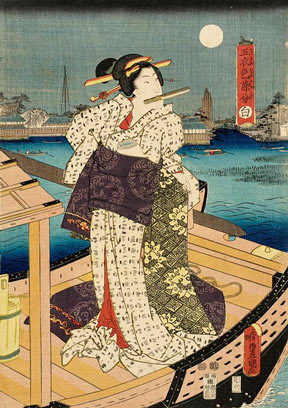 An Utagawa Kunisada woodblock print entitled White