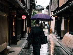 Geisha districts of Kyoto.