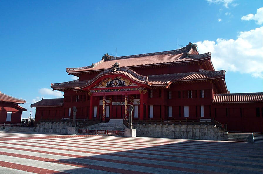 The entrance to Shuri Castle.