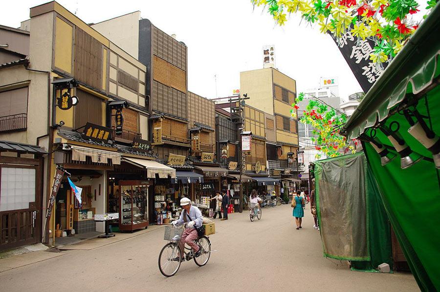 The Asakusa Geisha District in Tokyo