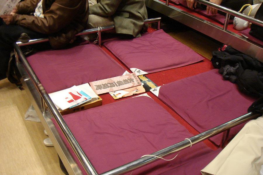 Sumo box seats.