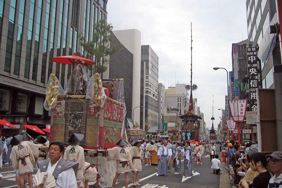 A Gion Matsuri Festival Parade.