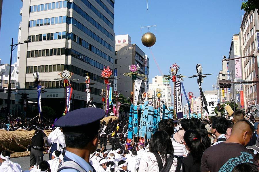 The Naha Matsuri festival in Okinawa.