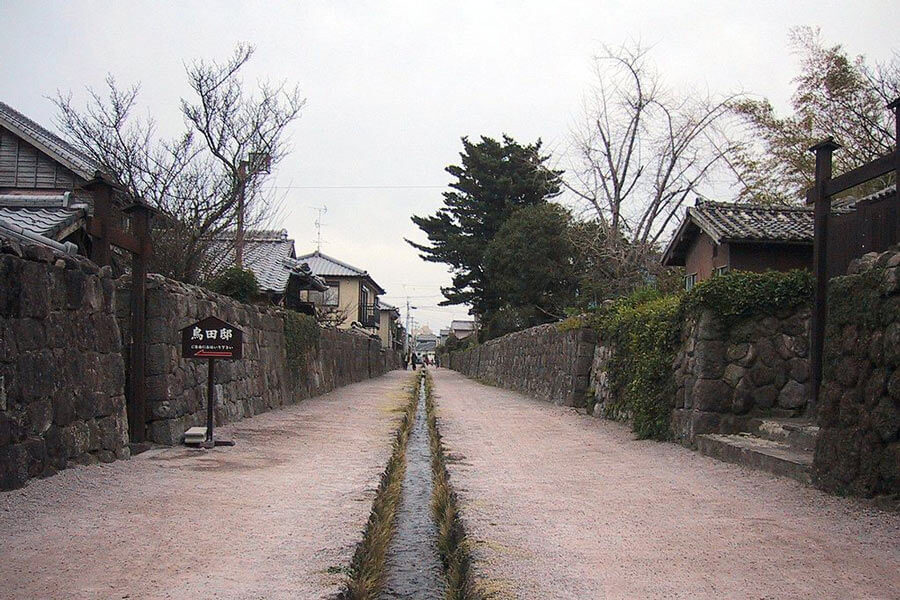 Samurai street in Shimbara, Nagasaki.