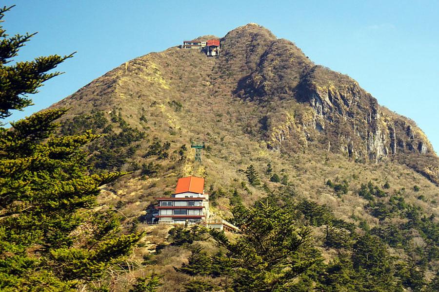 The Mount Unzen ropeway.