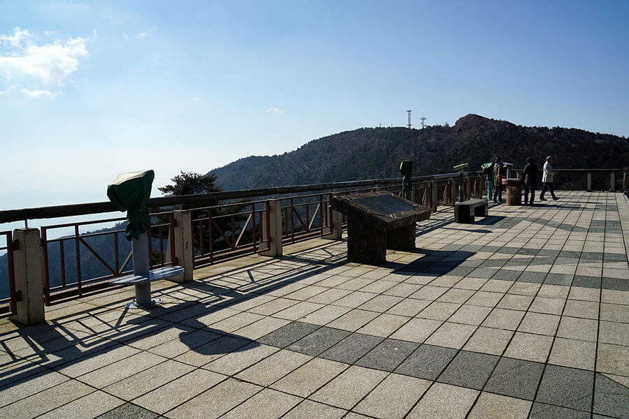 The view from the top of Mount Unzen.