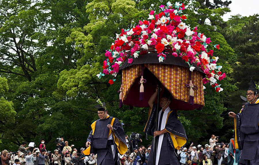 Shinto priests during the Aoi Matsuri.