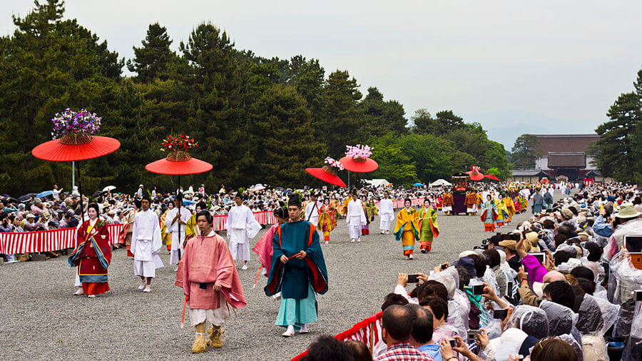 Hollyhock festival procession