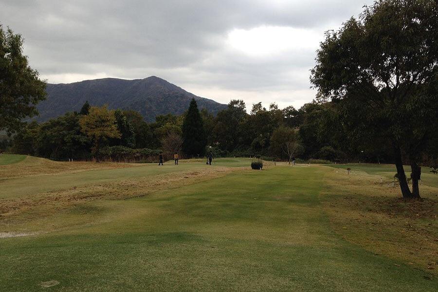 Golf course near Mount Unzen.