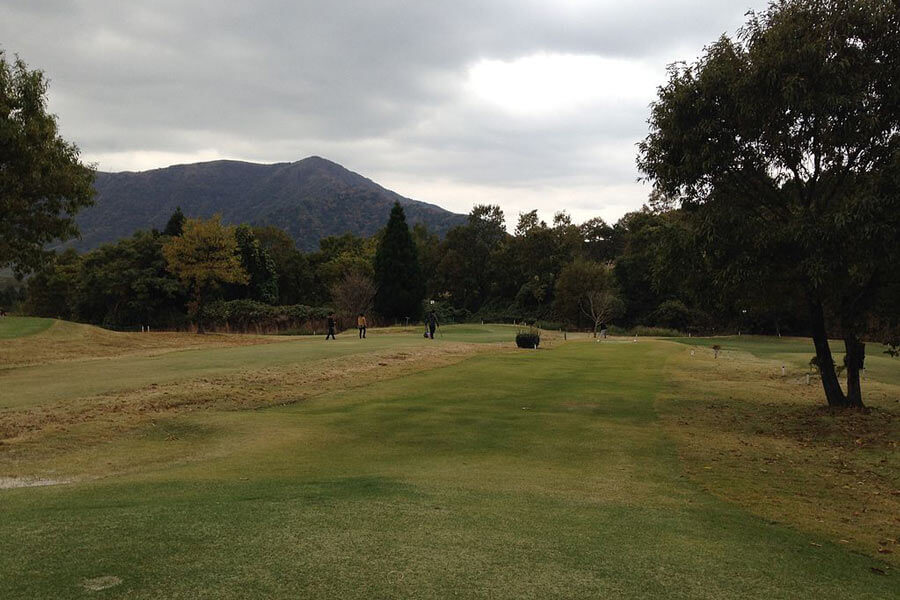 Golf course near Mount Unzen.
