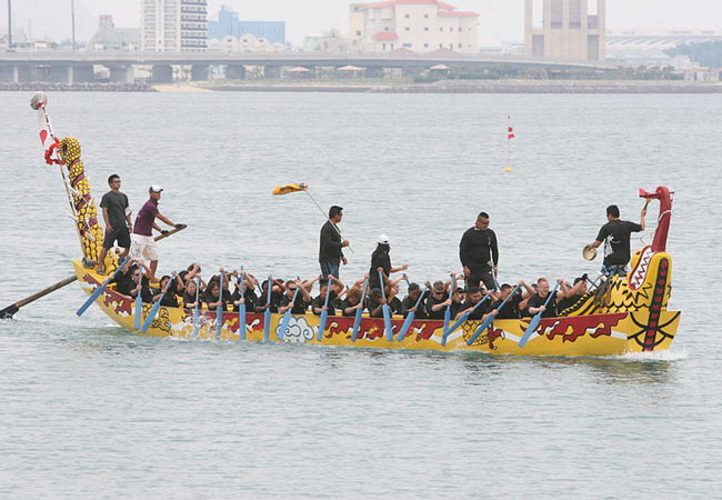 Dragon boat races in Okinawa