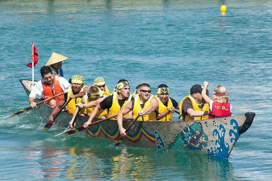 Okinawa Dragon Boat Races.