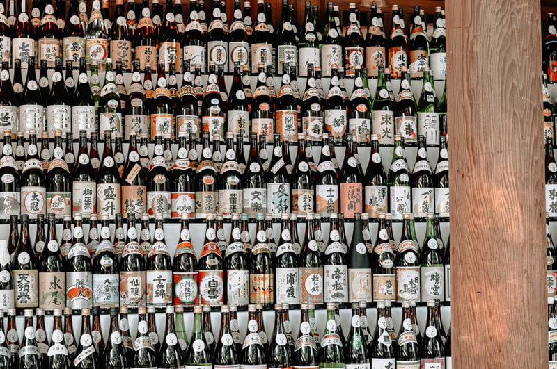 The different types of sake.
