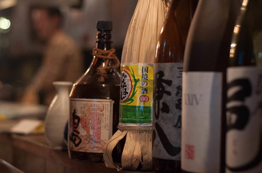 Sake tasting in Japan