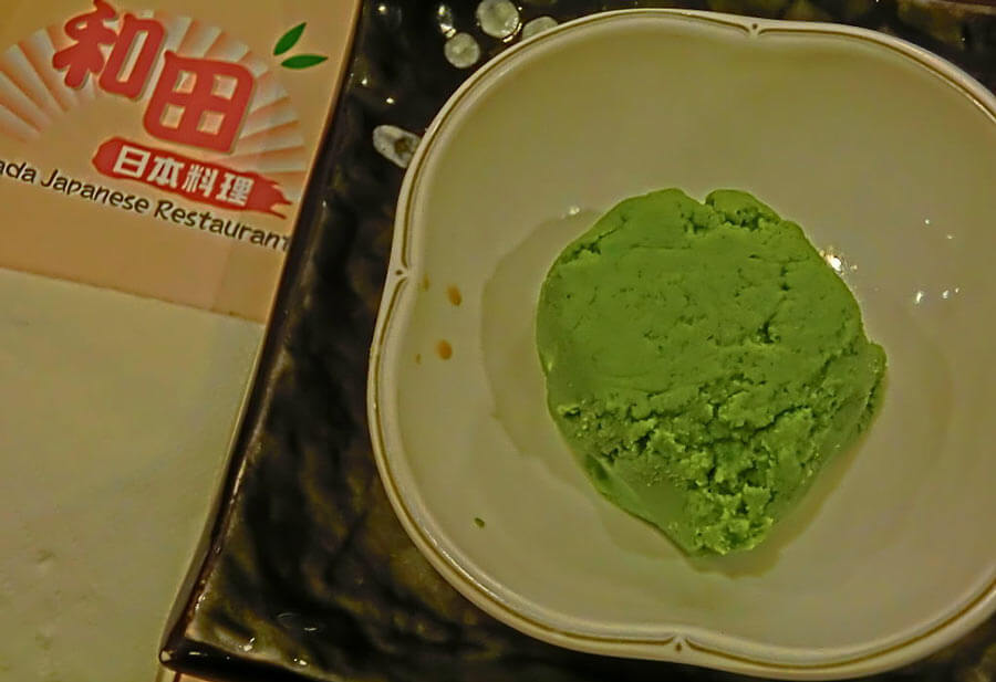 Wasabi on a plate