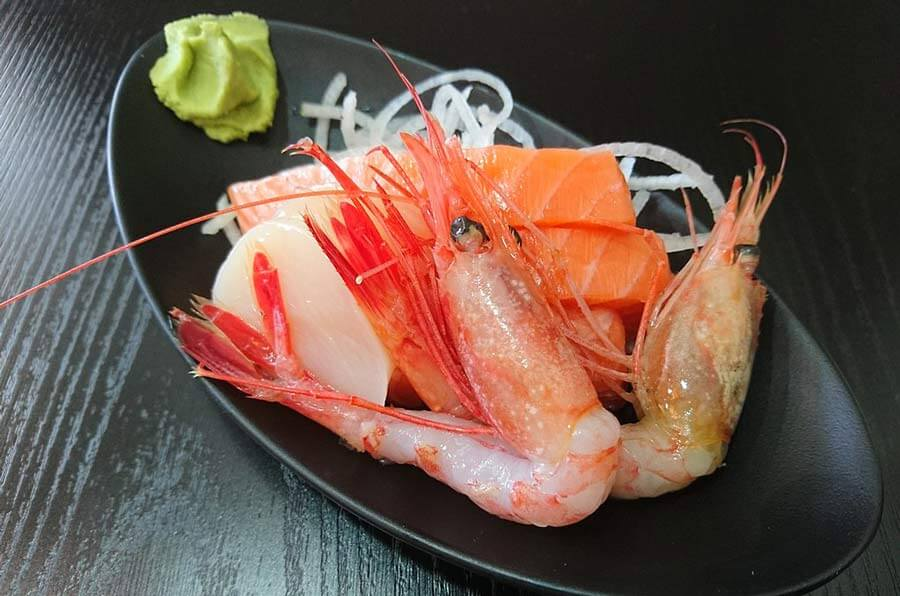 Sweetshrimp sashimi