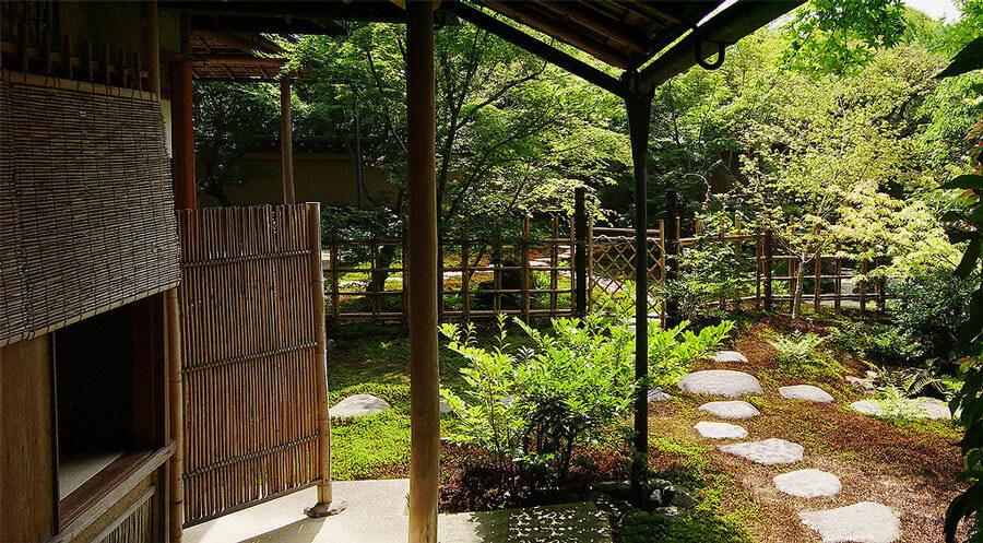 Japanese tea house entrance.