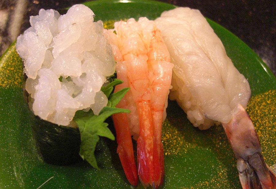 Amaebi sushi