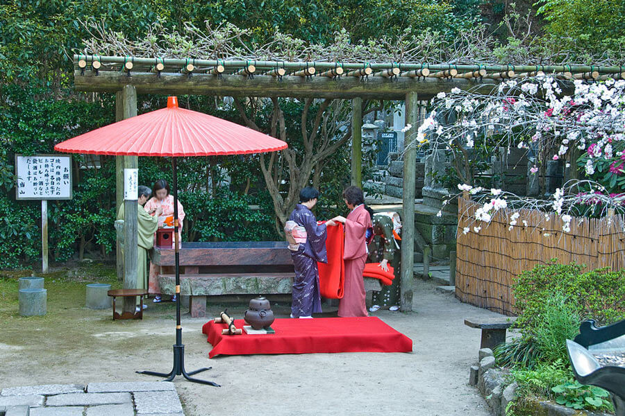 Outdoor tea ceremony