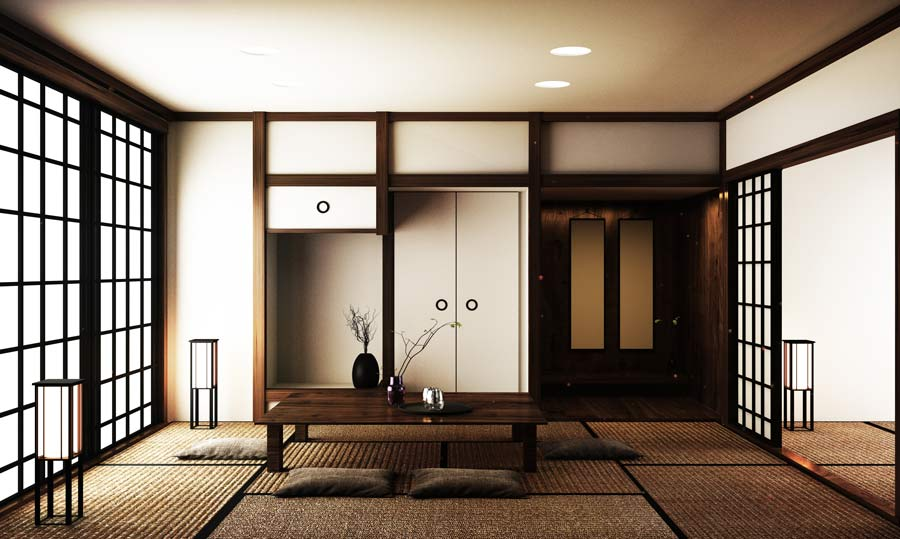 A typical ryokan style room.
