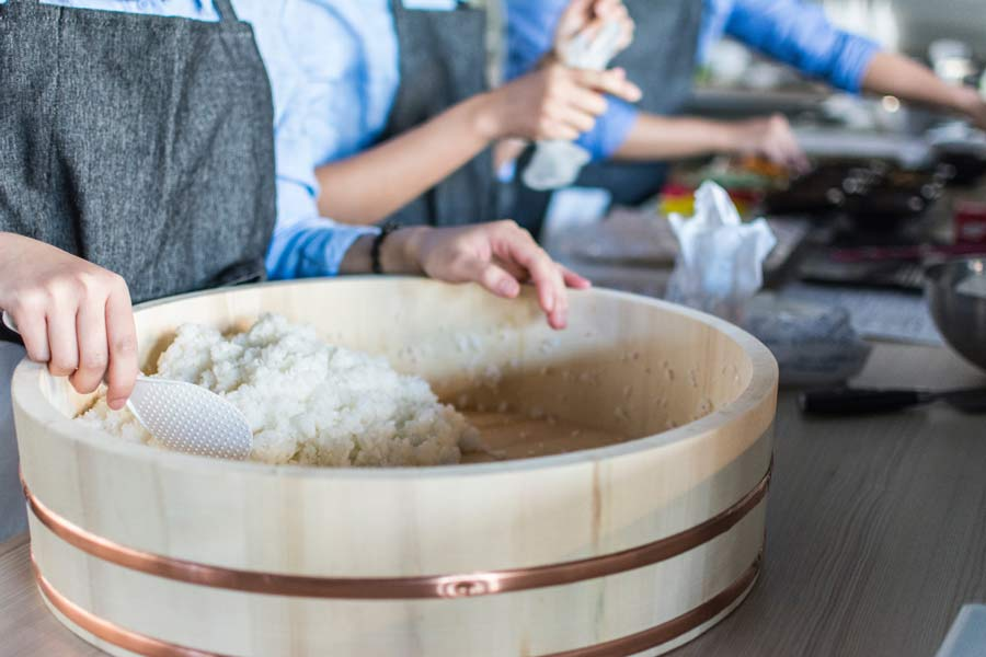 How to make sushi rice at home.
