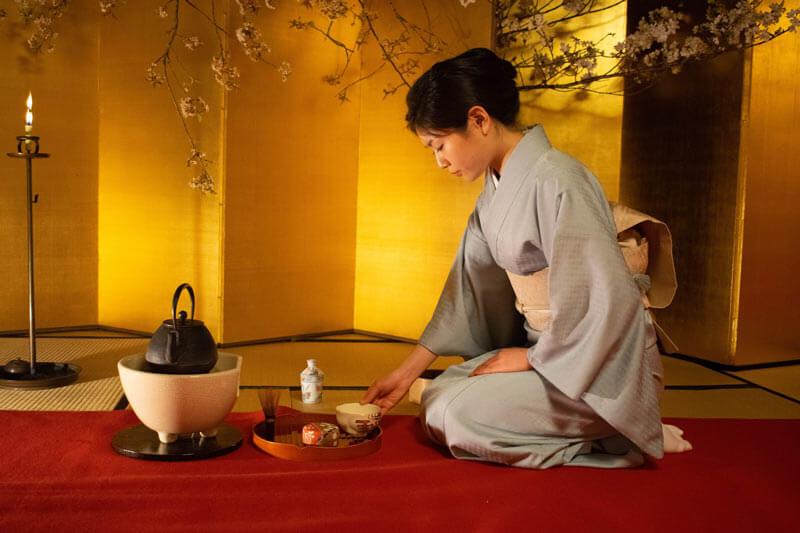 A Geisha performing the tea ceremony.