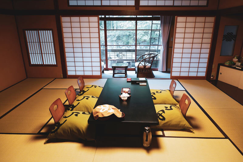 A traditional Japanese ryokan.