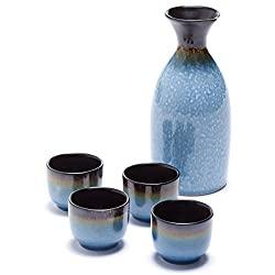 5 Piece Osaka sake set from Oenophilia
