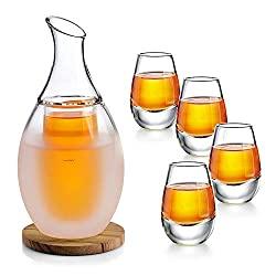 Sake glass set with warmer/cooler